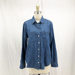 ABERCROMBIE & FITCH Chambray Denim Button Shirt